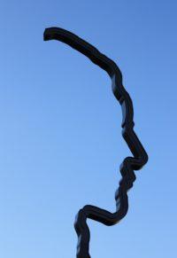 Foto van kunstwerk met alleen de de contour van de bovenkant, voorkant en hals van een hoofd. Dit als uitbeelding van de eigen ik of façade de we bij lifecoaching tegen komen. massagepraktijk (esbima massage = expressieve structurele bindweefselmassages (dit is een afgeleide van rolfing - postural integration met emotionele integratie (NEI)), lifecoaching, coaching, ontspanningsmassage, gezicht-bindweefselmassages en intuïtieve zwangerschapsmassage.) Mijnsheerenland, Hoeksche Waard en Rotterdam e.o.